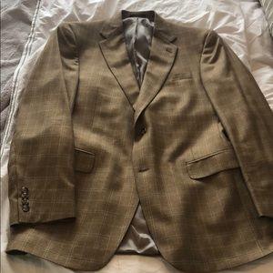 Men's tan checkered sports coat